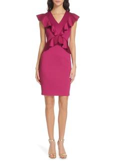 Ted Baker London Alair Ruffle Body-Con Dress
