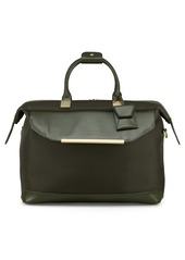 Ted Baker London Albany Softside Leather & Twill Weekend Bag