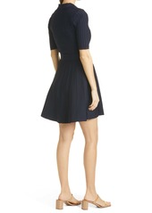 Ted Baker London Aleee Collared Knit Skater Dress