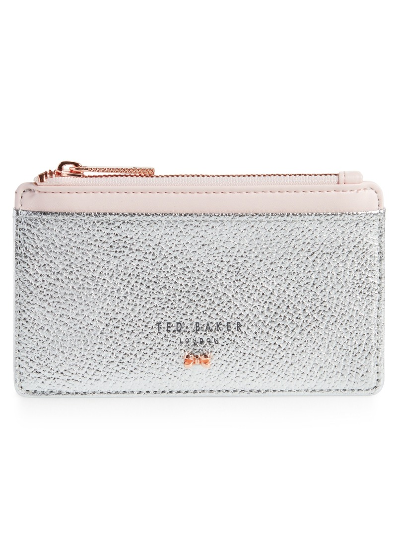 e6544ac4d443a Ted Baker Ted Baker London Alica Top Zip Leather Card Case Now  39.53