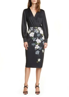 Ted Baker London Alithea Floral Long Sleeve Midi Dress