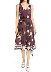 Ted Baker London Alyan Elderflower Print Asymmetrical Dress