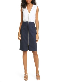 Ted Baker London Annise Exposed Zip Sleeveless Dress