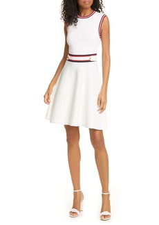 Ted Baker London Apryll Contrast Stripe Sleeveless Fit & Flare Dress