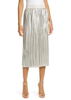 Ted Baker London Ariiana Metallic Pleat Skirt