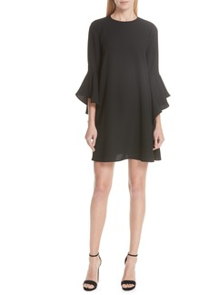 Ted Baker London Ashley Waterfall Sleeve A-Line Dress