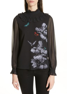 Ted Baker London Ashliee Narnia Ruffle Blouse