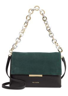 Ted Baker London Ashlyyn Leather & Suede Shoulder Bag