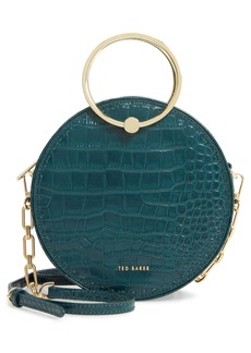 Ted Baker London Astori Croc Embossed Circle Crossbody Bag
