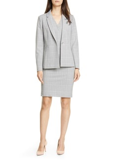 Ted Baker London Avril Contrast Check Jacket