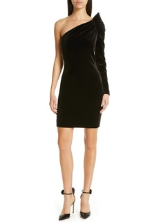 Ted Baker London Awwtum One-Shoulder Velvet Body-Con Dress