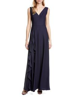 Ted Baker London Azaelea V-Neck Ruffle Maxi Dress