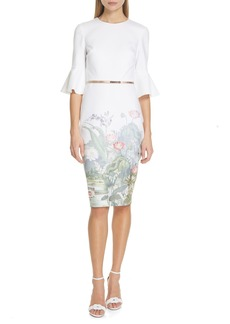 Ted Baker London Azania Wonderland Body-Con Dress