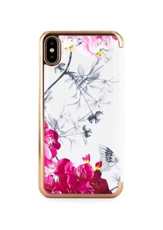 Ted Baker London Babylon Nickel Mirror Folio iPhone XS Max Case