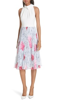 Ted Baker London Babylon Pleat A-Line Dress