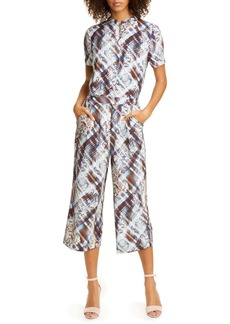 Ted Baker London Balay Quartz Mix Pattern Short Sleeve Jumpsuit