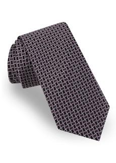 Ted Baker London Basket Weave Grid Silk Tie