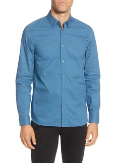 Ted Baker London Bassin Slim Fit Textured Button-Up Shirt