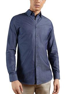 Ted Baker London Beaan Dot Print Long Sleeve Button-Up Shirt