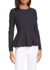 Ted Baker London Beffi Ribbed Peplum Sweater