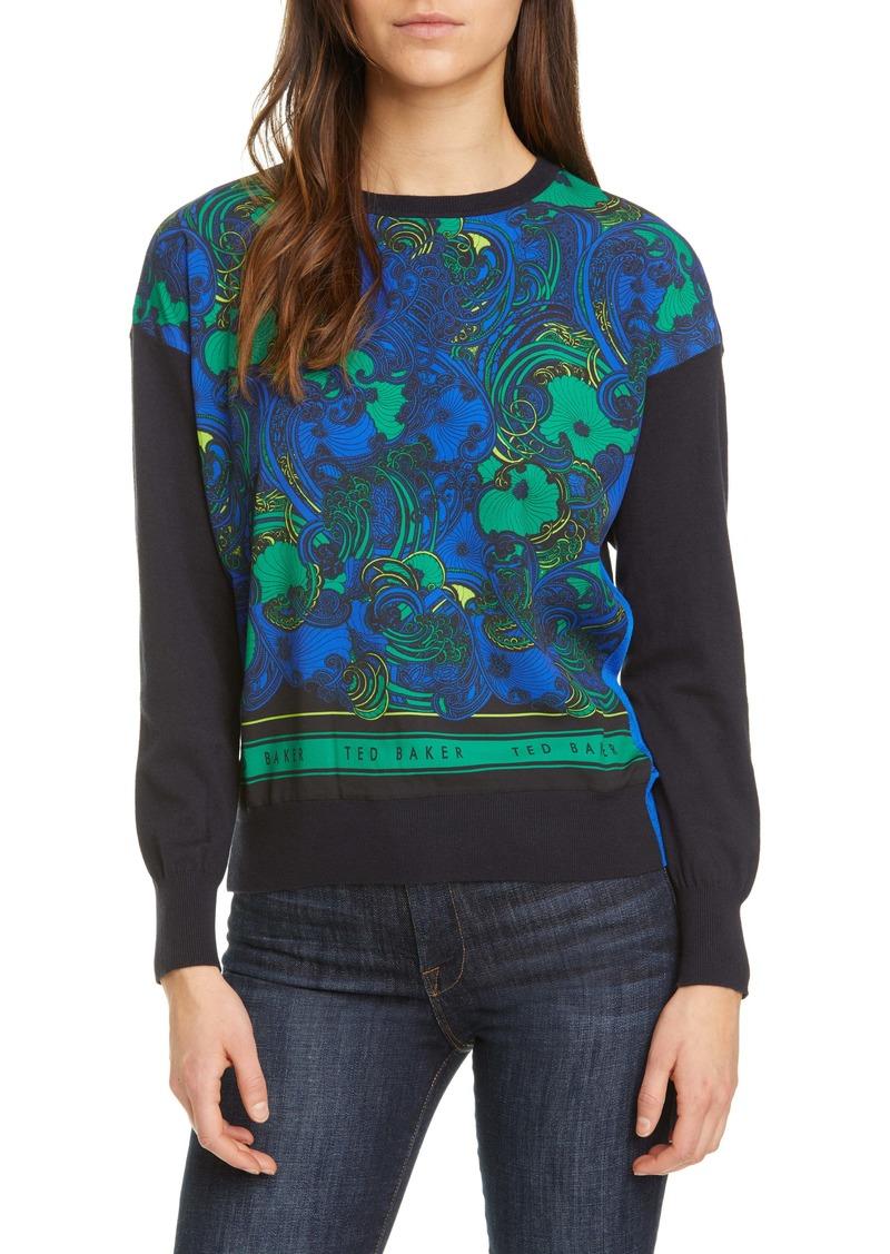 Ted Baker London Bekii Stargaze Woven Front Sweater