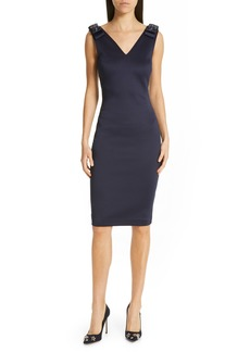 Ted Baker London Belliah Bow Shoulder Body-Con Dress