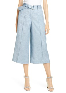 Ted Baker London Belted Cropped Wide Leg Pants