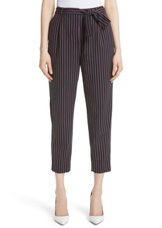 Ted Baker London Colour by Numbers Belted Stripe Crop Pants