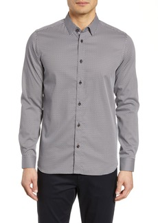 Ted Baker London Berdie Slim Fit Geometric Print Sport Shirt