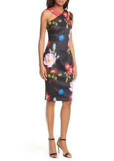Ted Baker London Polayo Floral Asymmetrical Sheath Dress