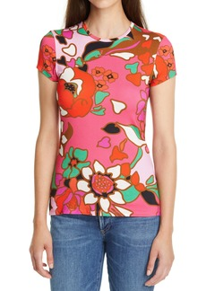 Ted Baker London Bevilin Piñata Print Fitted T-Shirt