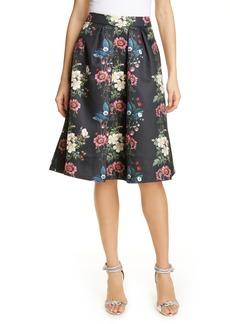 Ted Baker London Bevly Oracle Drop Hem Skirt