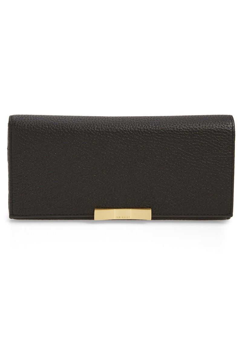 Ted Baker London Bevv Bow Leather Matinée Wallet