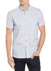 Ted Baker London Beya Slim Fit Nepped Woven Shirt