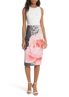 Ted Baker London Blenheim Palace Embellished Body-Con Dress