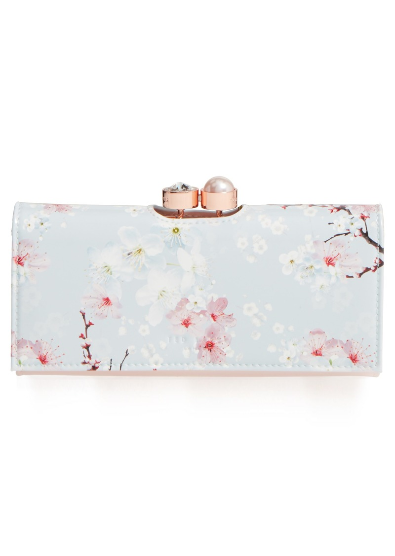 7dfc3ad33410 SALE! Ted Baker Ted Baker London Blossom Print Leather Matinée Wallet
