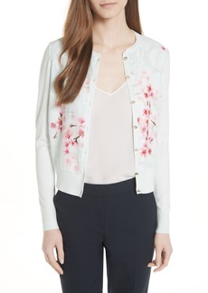 Ted Baker London Blossom Woven Front Cardigan