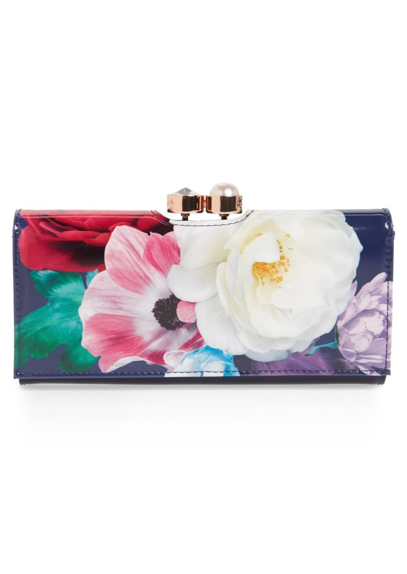348301c03 Ted Baker Ted Baker London Blushing Bouquet Leather Matinee Wallet ...
