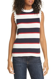 Ted Baker London Bonayy Stripe Knit Cotton Tank