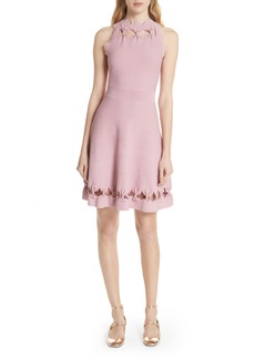Ted Baker London Bow Detail Knit Fit & Flare Dress