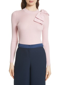 Ted Baker London Bow Detail Ribbed Sweater