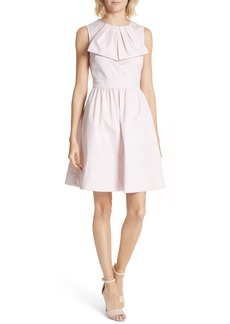 Ted Baker London Bow Front Cotton Fit & Flare Dress