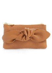 Ted Baker London Mellany Knotted Double Pouch Leather Coin Purse
