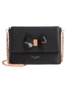 Ted Baker London Bowii Bow Mini Bark Leather Crossbody Bag