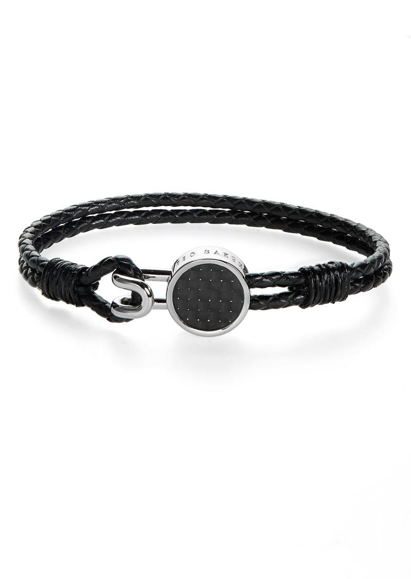 Ted Baker London Braided Leather Bracelet