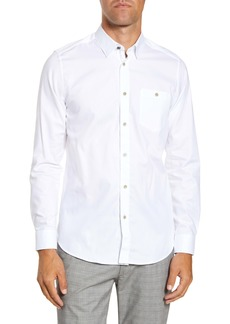 Ted Baker London Branded Tape Slim Fit Shirt