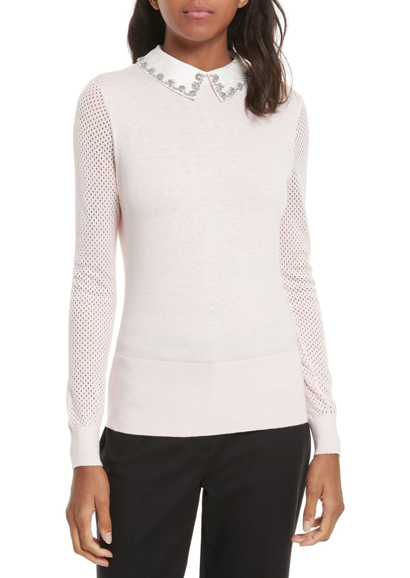 36b00ebb980 Ted Baker Ted Baker London Braydey Embellished Collar Sweater