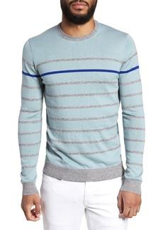 Ted Baker London Britnay Trim Fit Stripe Crewneck Sweater