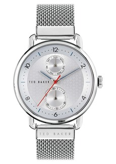 Ted Baker London Brixam Multifunction Mesh Strap Watch, 42mm