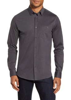 Ted Baker London Broader Slim Fit Button-Up Piqué Shirt